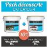 Pack découverte- intérieur - Impression opacifiante + peinture acrylique 15L